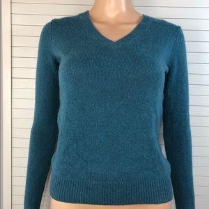 Uniqlo Women's V-neck Merino Sweater Teal Sz. XS